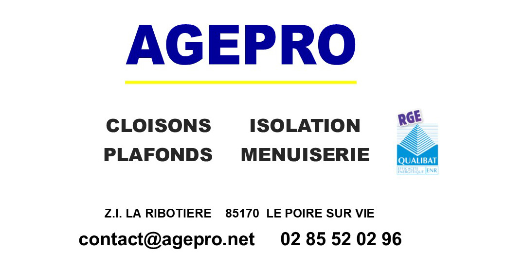 Logo complet AGEPRO Menuiserie Isolation